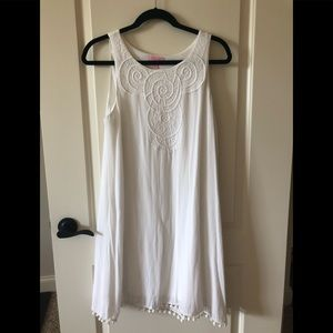 Lilly Pulitzer Embroidered White Dress. Size M.
